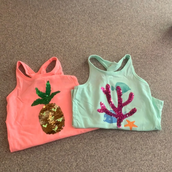 Cat and Jack Tanks lot of 2